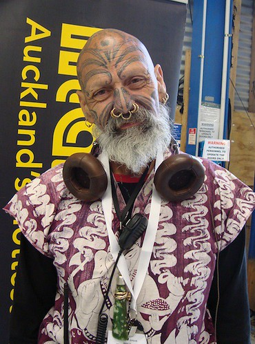 Ta Moko, Tatau, Tattoo Convention 2009 in Auckland, New Zealand where Maori,