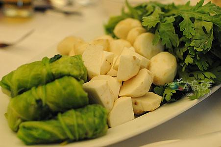 羊肉爐的配菜