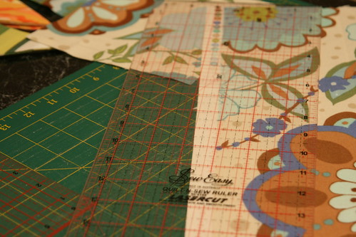 Cutting quilt pieces 2