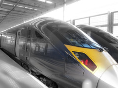 High-Speed Rail Train at St. Pancreas International Station