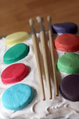 Paint Tray Cake
