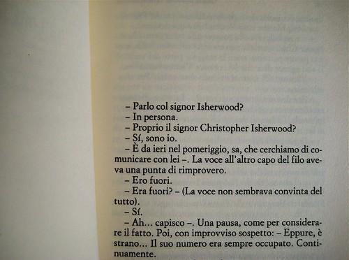 Christopher Isherwood, La violetta del Prater, Einaudi 1988, p. 3 (part.)
