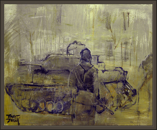 WW2-WWII-GERMAN SOLDIERS-PANZER-PAINTINGS-PINTURA-ERNEST DESCALS-CUADROS-
