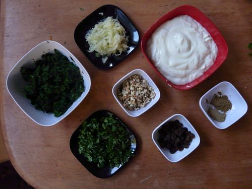 Spinach Raita Ingredients