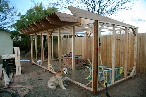 Chicken Coop from the South plus Huxley