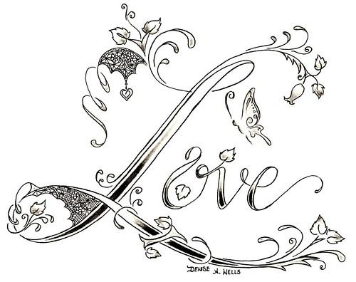 pretty lace design. script tattoo
