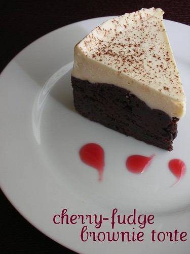 cherry-fudge brownie torte