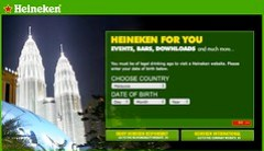 Heineken says you must be of legal drinking age