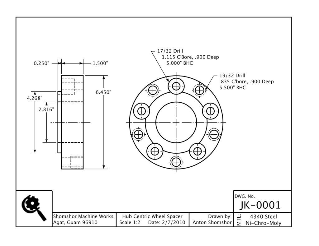 Custom Hub Centric Wheel Adapters