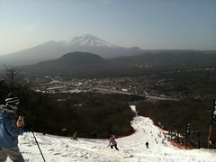 軽井沢プリンスホテルスキー場からの景観