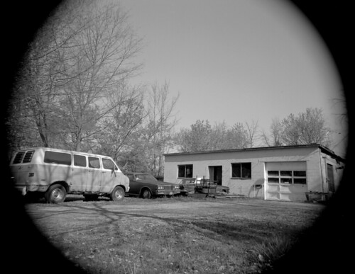 Garage and van
