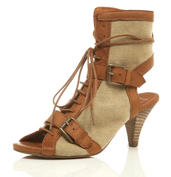 Topshop lace boots