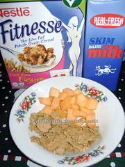 Nestle Fitnesse with melon slices