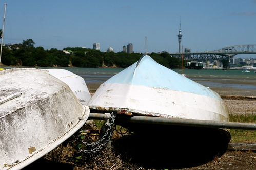Tuesday: Picnic at Birkenhead: Old Boats and the Sky Tower