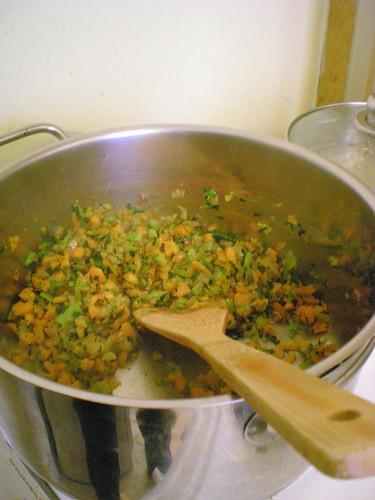 Sauteeing veggies
