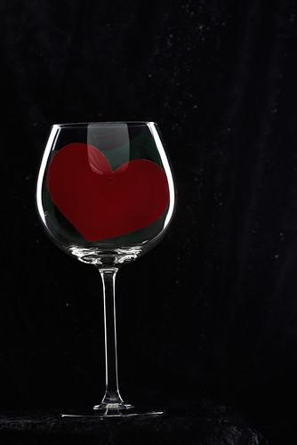 Heart in Wine Glass