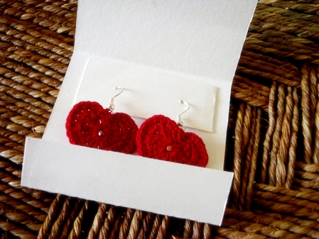 Crochet - Hearty Earrings -PKD2