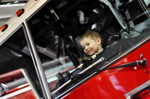 BB in a Fire Truck