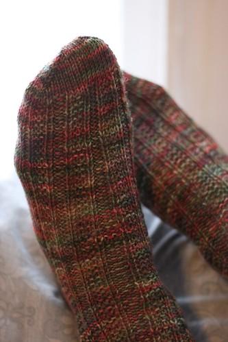 Garter stitch socks