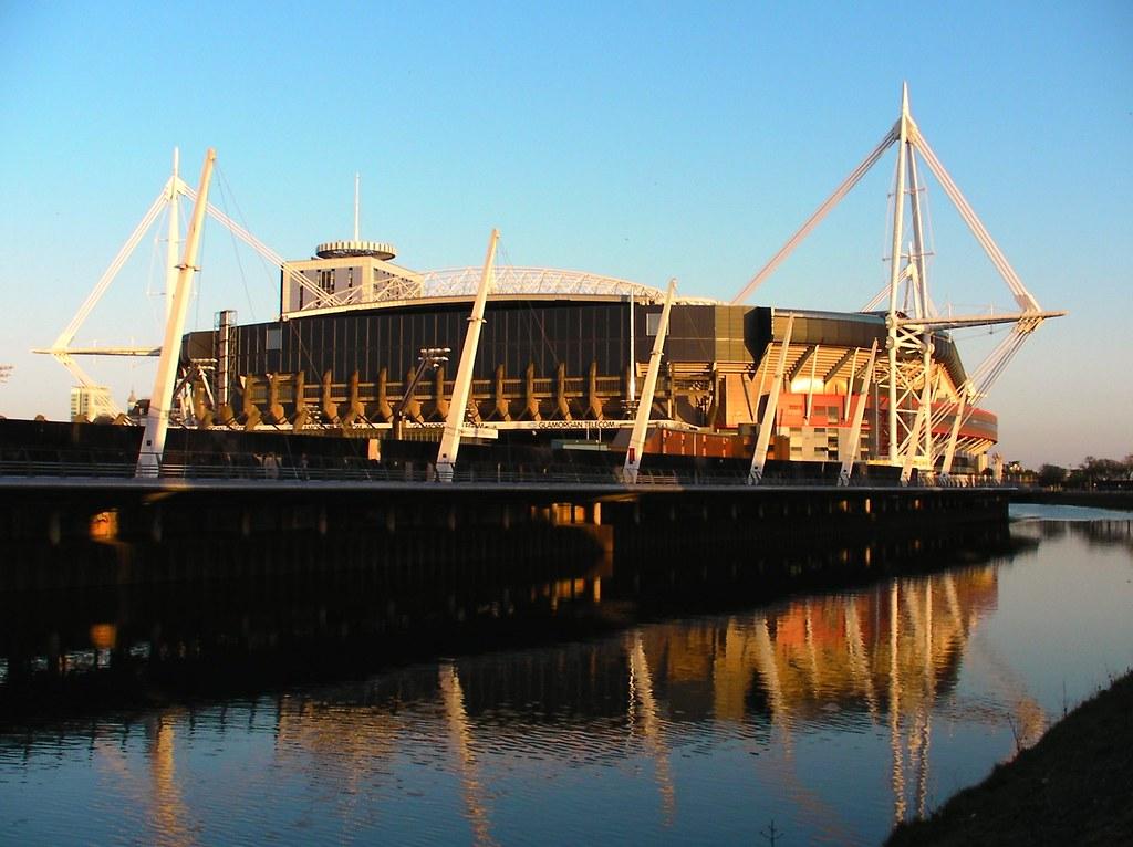 Millennium Stadium  volcanic sunset