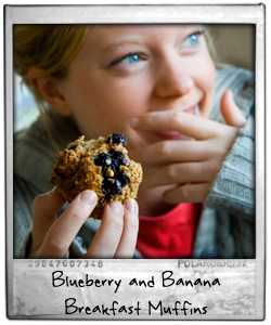 Blueberry and Banana Breakfast Muffins