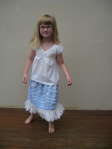 blue bedspread skirt