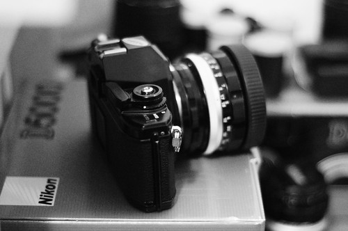 Nikon EM with 55 1.2
