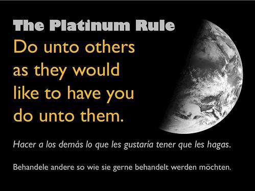 the platinum rule