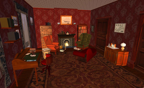 Mr Holmes' consulting rooms in New Babbage