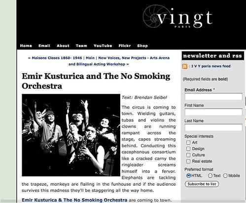 Vingt - Emir Kusturica & TNSO