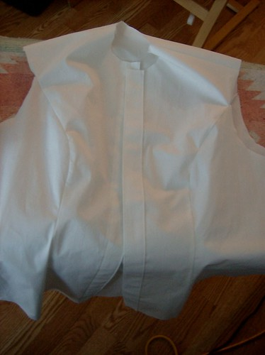 white cotton collared shirt