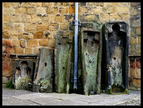 Stone coffins, Bakewell parish church