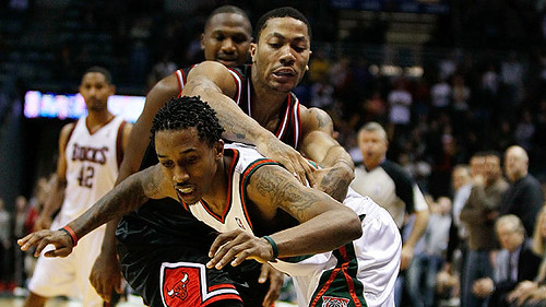 Derrick Rose y Brandon Jennings