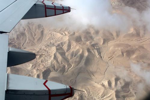 View of Arava Desert from Plane