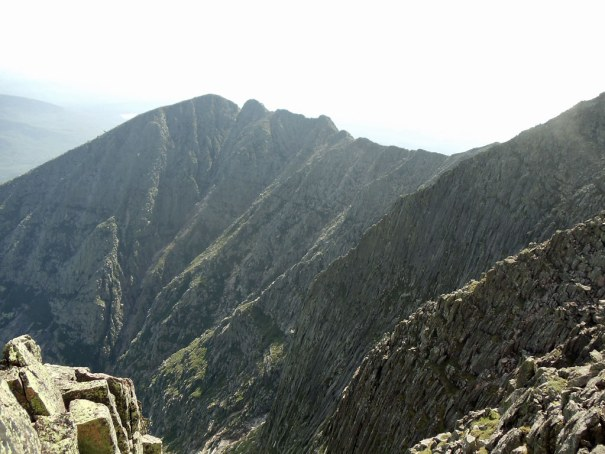 Katahdin Knife Edge as viewed from Baxter Peak.