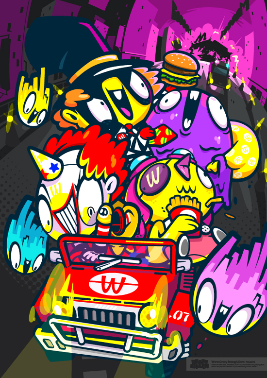 Colorful Character Designs by Crazy Enough