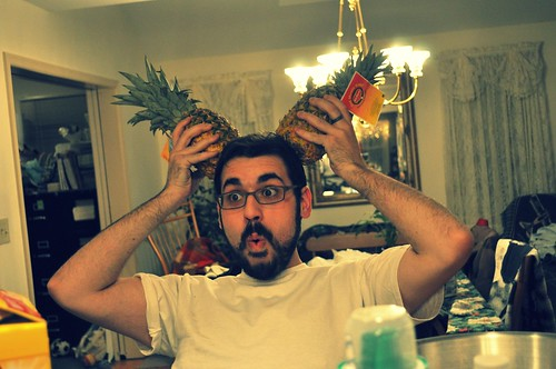 rob with pineapples