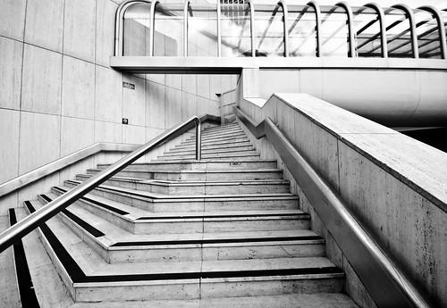 B&W Steps Corridor