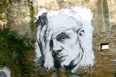 Aldous Huxley painted portrait IMG_7518