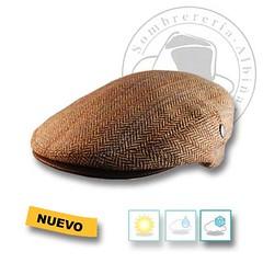 Gorra combinada con piel