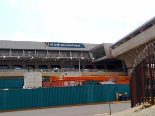 O R Tambo airport under construction
