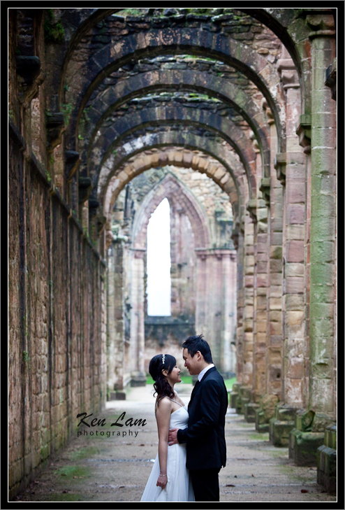Pre-wedding at Fountain the Abbey, Yorkshire