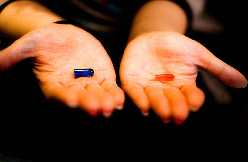 This is your LAST CHANCE. After this, there is no turning  back. You take the blue pill, the story ends. You wake up and believe whatever you want to believe. You take the red pill and you stay in wonderland, I show you just how deep the rabbit hole goes