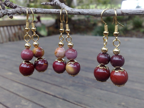 Moukaite jasper earrings