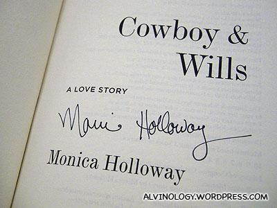 An autographed copy
