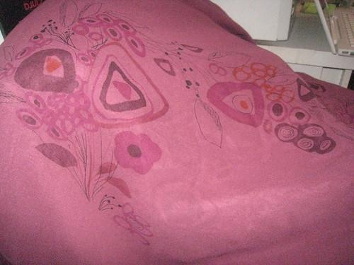 silk magenta print