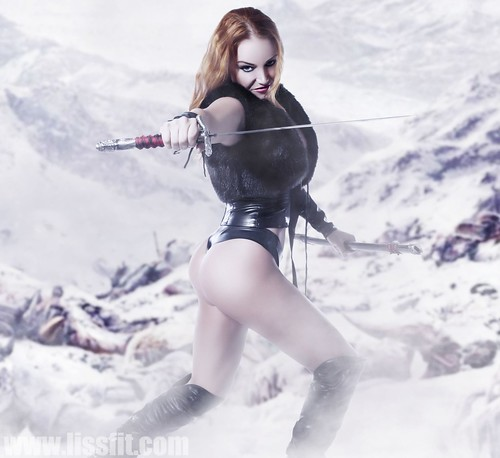 lissfit redhead cwarrior princess sword wallpaper download