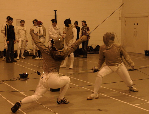 womens fencing v newcastle - peter iveson - 10/3/10 -