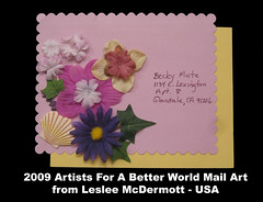 Leslee McDermott Mail Art - USA