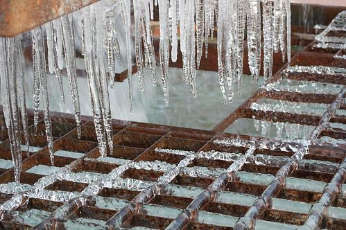 Fuente del parque Tierno Galván (congelada)
